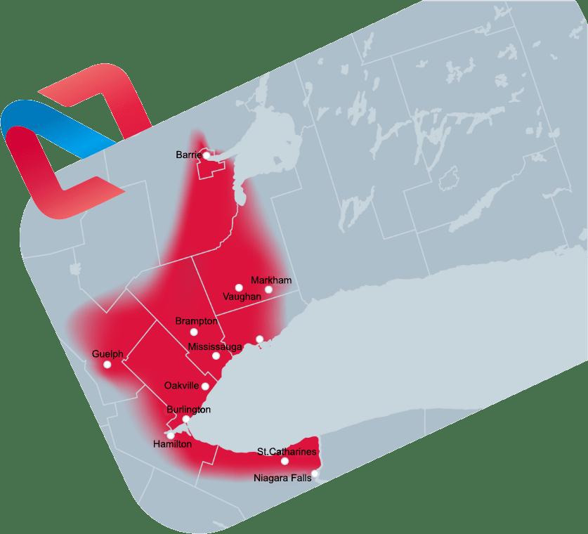 HVAC Serving Brampton, Mississauga, Toronto, Burlington, Hamilton, and the GTA